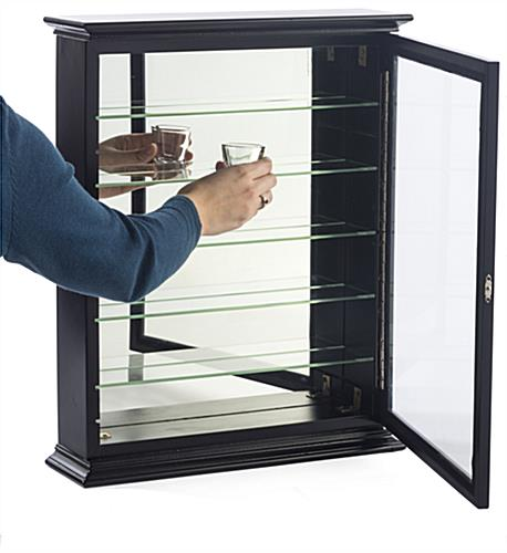 Cabinet for Shot Glasses with Shelves