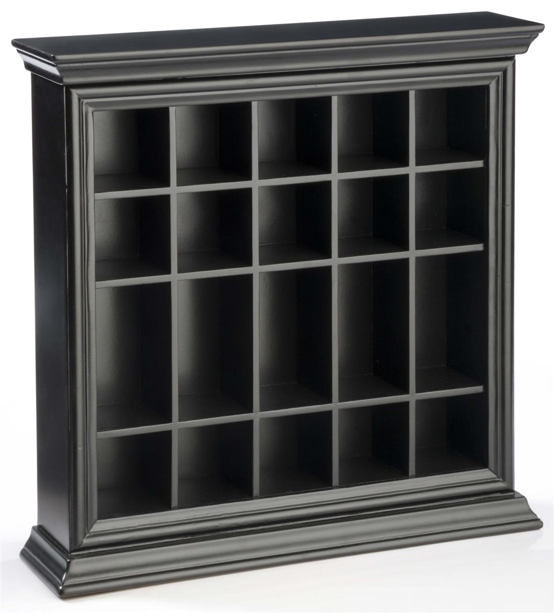 Displays2go 20 Shot Glass Display Case for Tabletop or Wa...