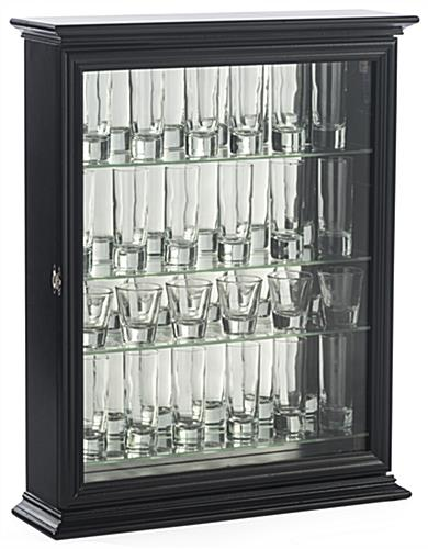 Cabinet for Shot Glasses for Single or Double Sized Shooters