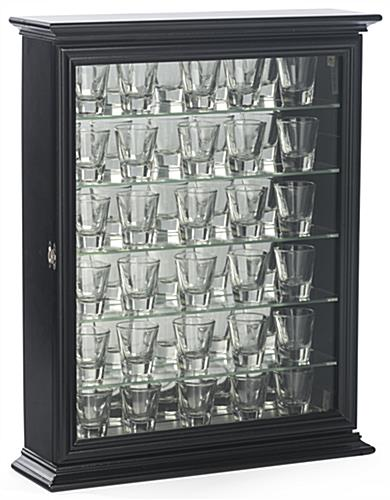 Cabinet for Shot Glasses with (5) Shelves