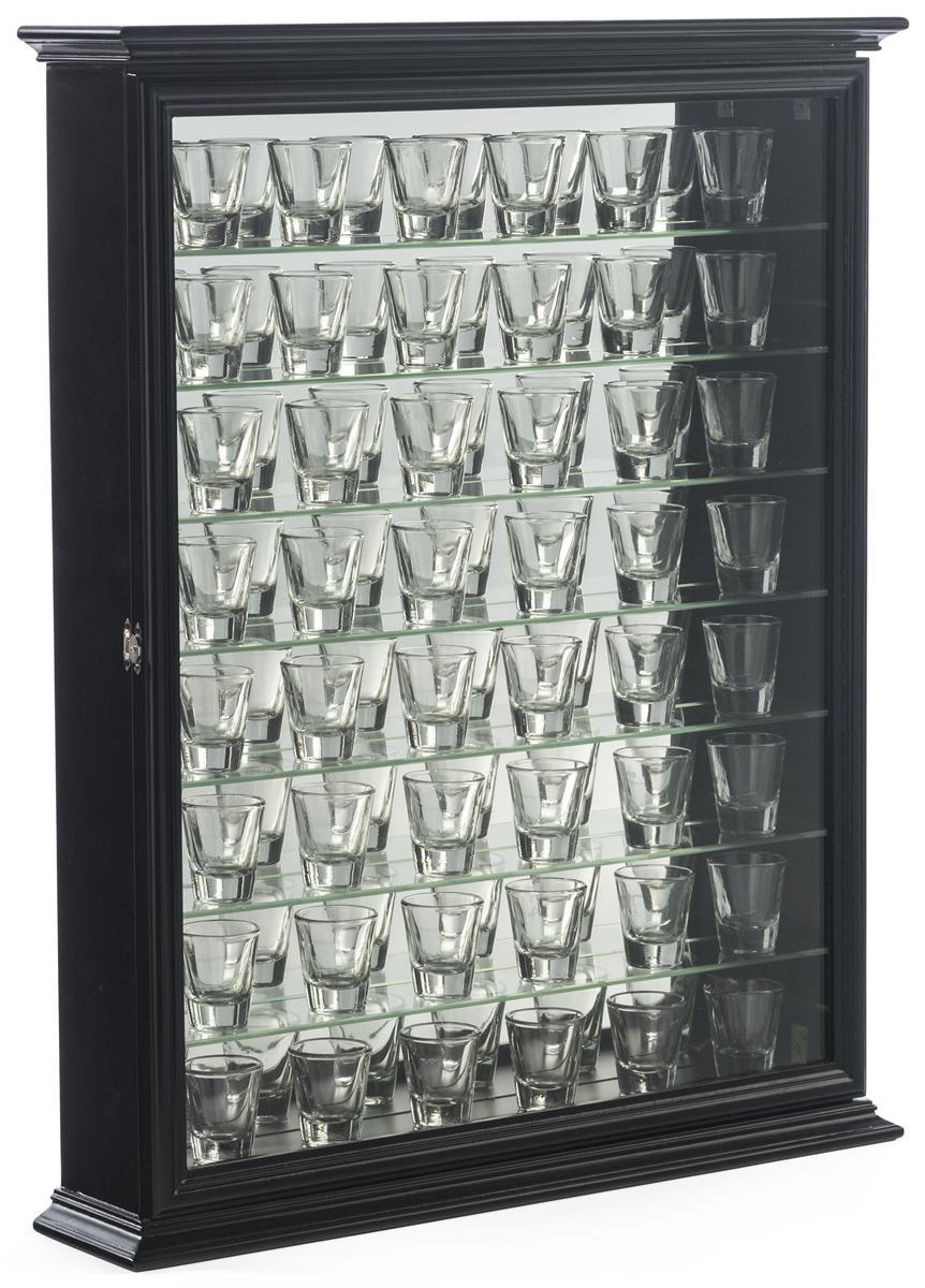 Display Case For Shot Glasses Tempered Glass Shelves