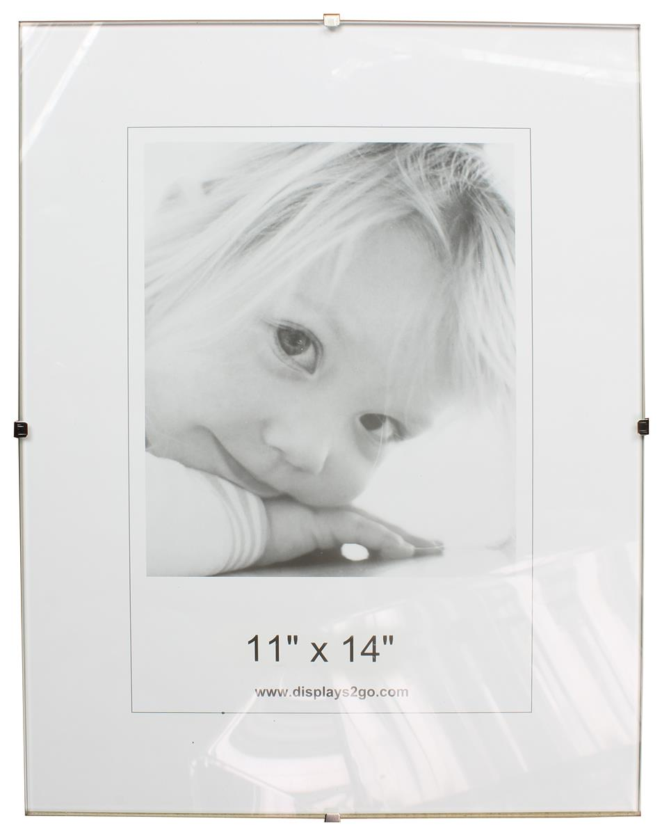 11 x 14 glass clip picture frame tempered panels jeuxipadfo Image collections