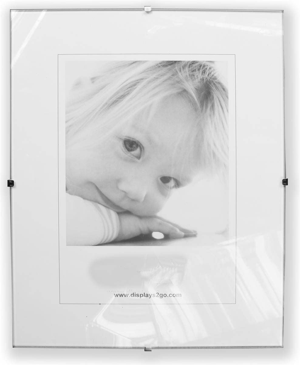 This Glass Clip Frame Can Be Wall Mounted In Vertical Or Horizontal