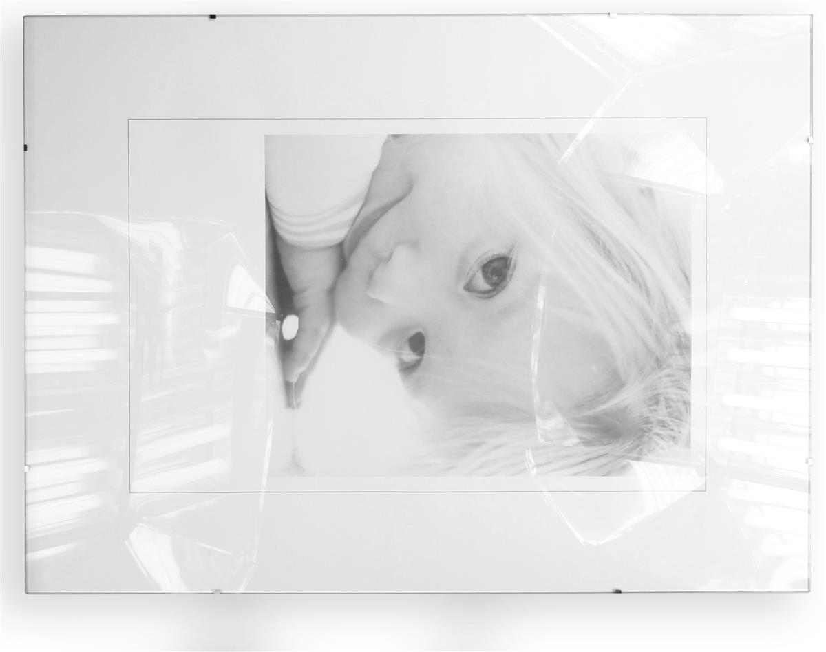 18 X 24 Frameless Glass Clip Picture Frame Wall Mounting