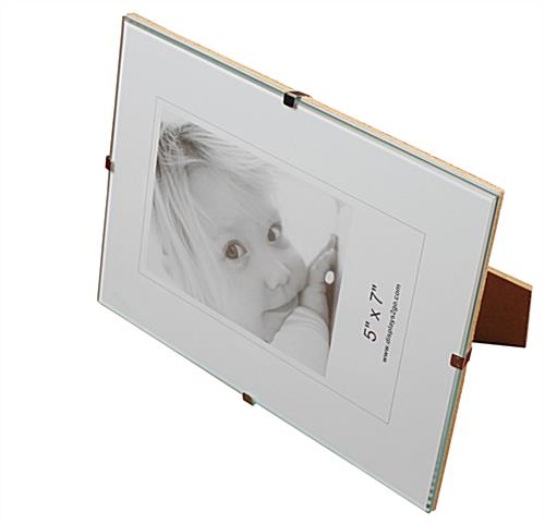 displays2go all products picture frames glass clip frames sku shnn5x7