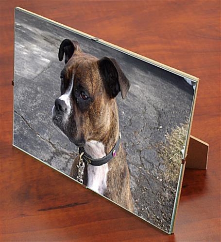 Glass Clip Photo Frame Is Frameless With A Glass Panel