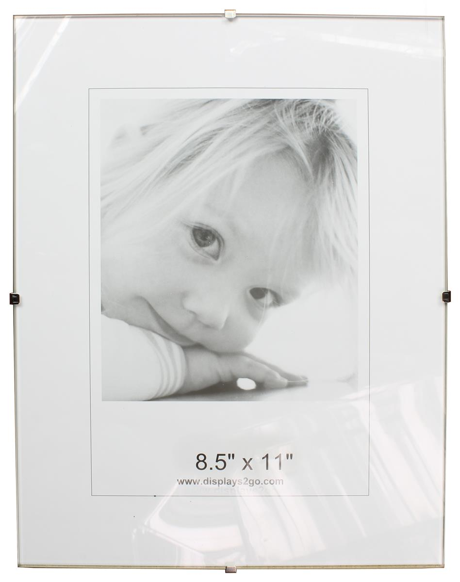 85 x 11 glass clip picture frames tempered glass
