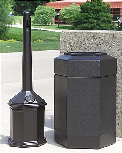 Black Waste Receptacle