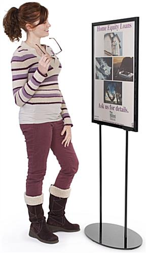 Metal Poster Stands For 22 X 28 Graphics (Black)