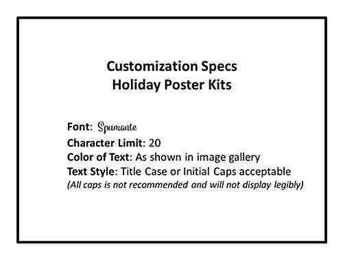 Seasonal sale retail poster multi-pack with custom spec limits