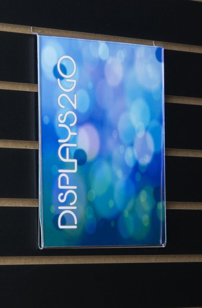 slatwall sign holder for 8 5 x 11 graphics. Black Bedroom Furniture Sets. Home Design Ideas