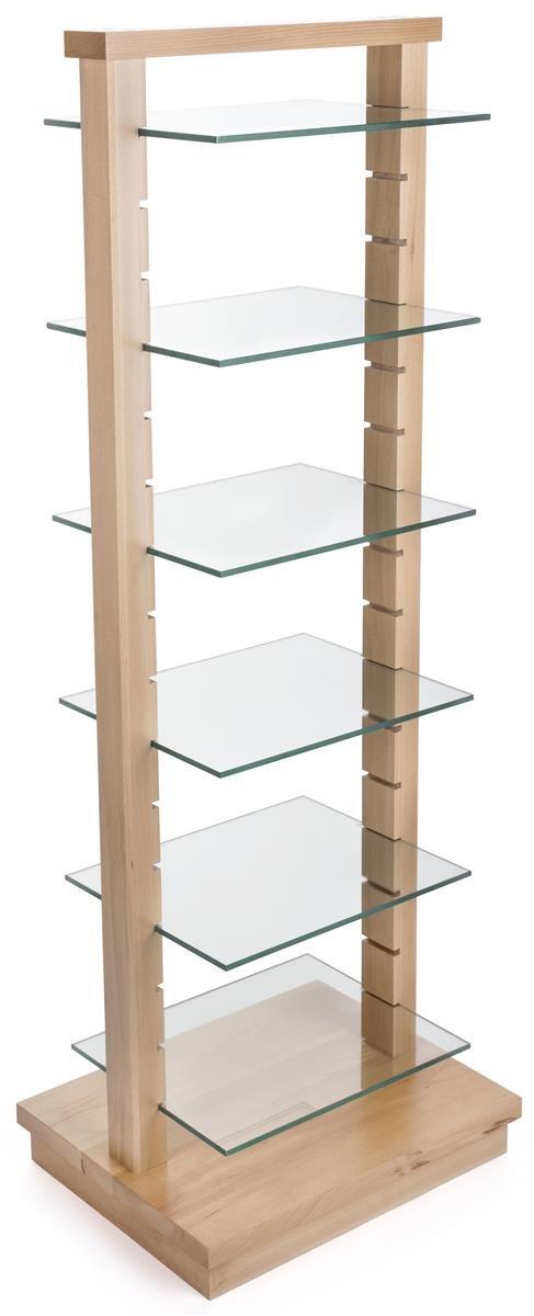 Do It Yourself Home Design: Wood Post Glass Shelf Gondola