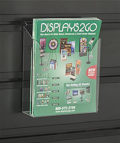 Slatwall Kiosk with Magazine Holders Made with Acrylic