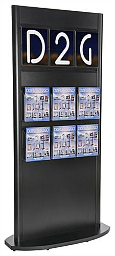 Double Sided Slatwall Kiosk with Magazine Holders