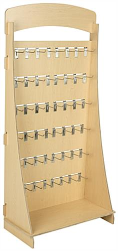 "Plywood Freestanding Slatwall Display with 4"" Chrome Hooks"