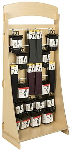 "12 Channel Freestanding Slatwall Display with 4"" Chrome Hooks"