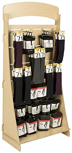 "Flat Storing Freestanding Slatwall Display with 8"" Chrome Hooks & Interlocking Panels"