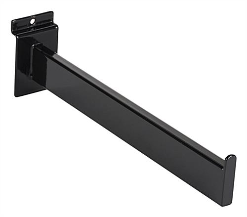 "Lipped edge slatwall black 12"" faceout"