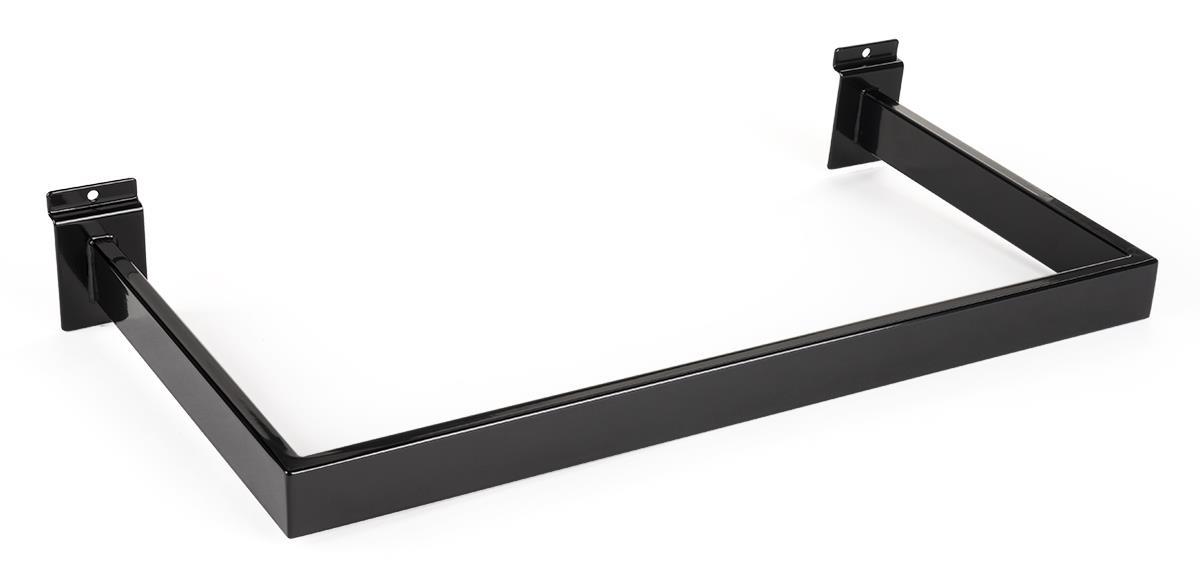 New U-Shape Chrome Slatwall Hangrail Chrome Finish 24 Wide