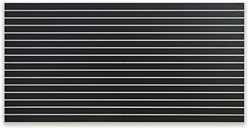 Large Black Slat Board Display Panel 4 X 8 Slatwall