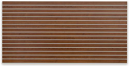 Unpropped Cherry Finish Large Slotted Wall Board Panel
