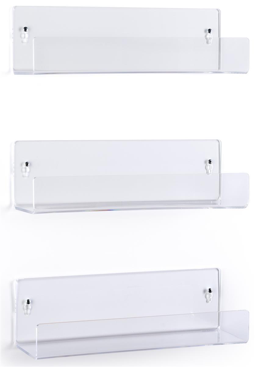 Wall Mounted Acrylic Shelves Set Of 3