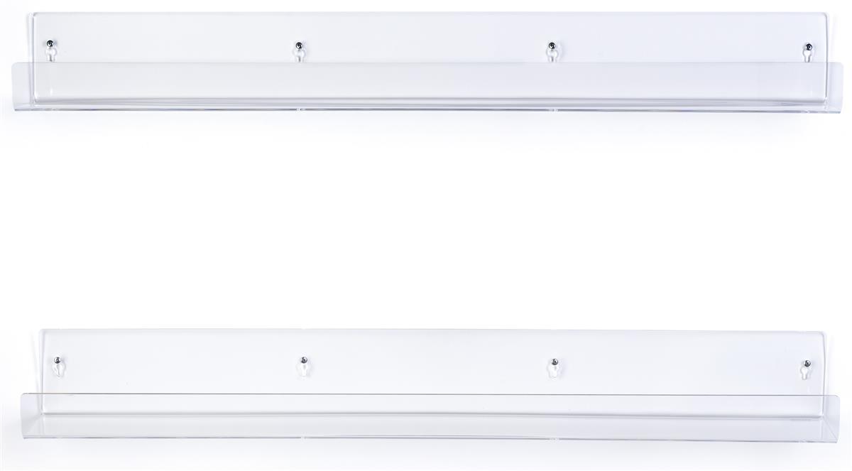 Clear Acrylic Shelves 2 Raised Ledge
