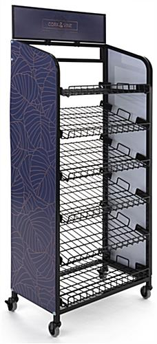 Retail bread rack graphics for BAKCRT6TBK is easy to assemble and dissemble panels