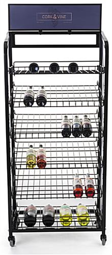 Retail bread rack graphics for BAKCRT6TBK includes 3 panels with full bleed printing