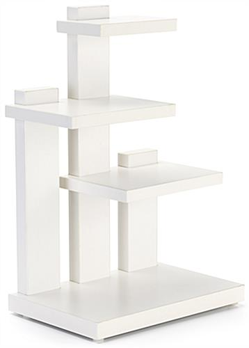 Countertop 3-tier merchandise display with overall width of 12 inches