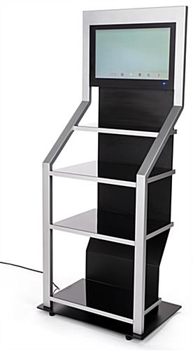 Digital merchandising retail shelving unit with Android 7.1 operating system