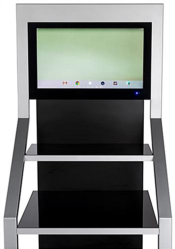 Digital merchandising retail shelving unit with 21.5 inch LCD screen