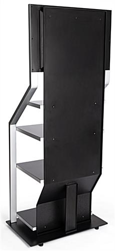 Digital merchandising retail shelving unit with built in cable management