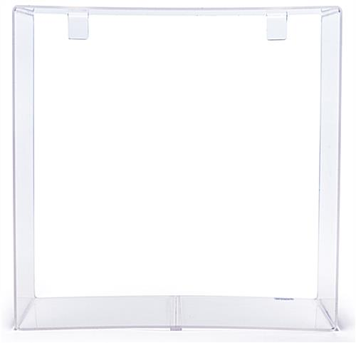 acrylic display cube for gridwall includes 2 mounting brackets