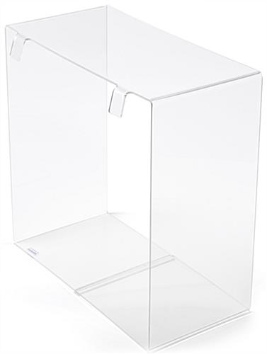 multi-purpose acrylic display cube for gridwall with one eighth inch thick construction