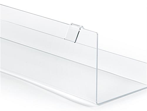 j rack acrylic gridwall shelving with open ends