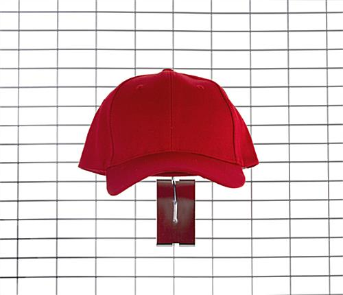 Wire grid hat display with gridwall mounting placement style