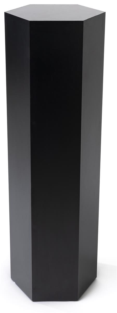 Hexagon retail pedestal with 36 inch overall height