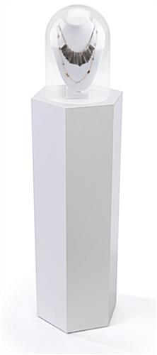Hexagonal display pedestal with 50 pound max weight capacity