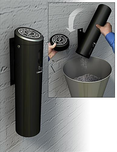 Wall Mounted Cigarette Receptacle Fits 500 Butts