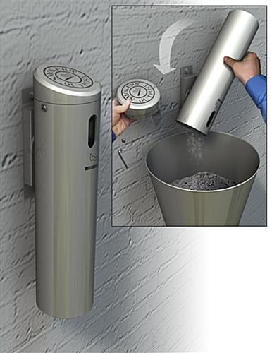 Easy Disposal Wall Mounted Ashtray