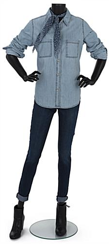 62 inch tall adult female headless mannequin with modern design