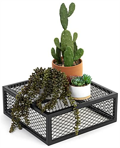Iron mesh cube storage riser with 100 pound max weight capacity