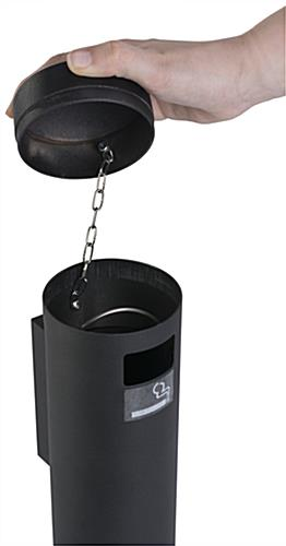 Wall Mounted Smokers Outpost with Easy to Empty Bin