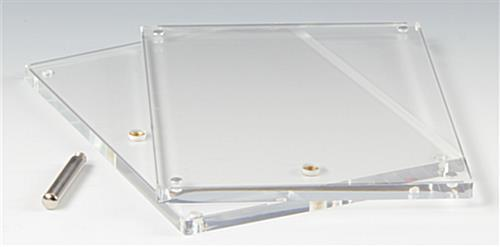 frameless acrylic frame clear block w 3 5 x 5 panels