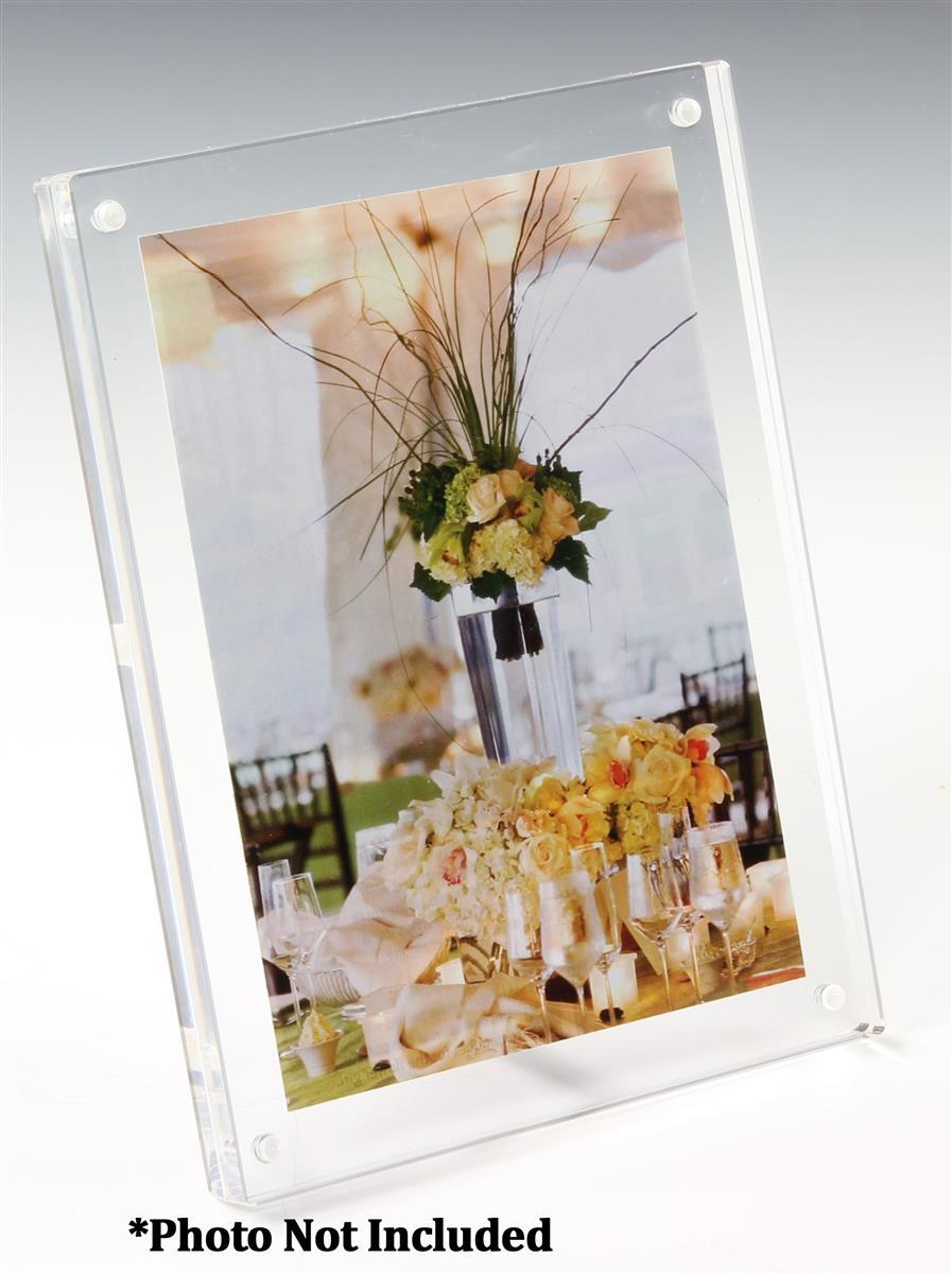 frameless acrylic frame clear block w 3 5 x 5 panels