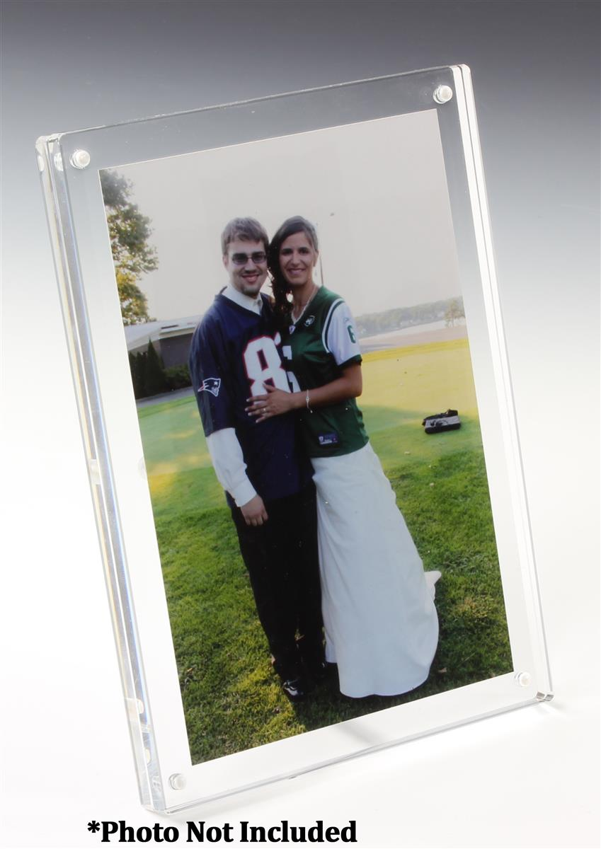 Acrylic Block Picture Frame for 4 x 6 Prints