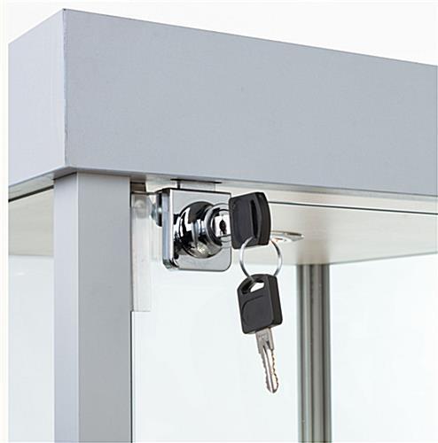 Aluminum Framed & Tempered Glass Cabinet - Silver