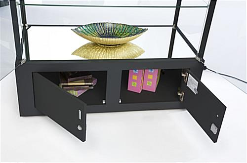 Black Display Case With Bottom Storage