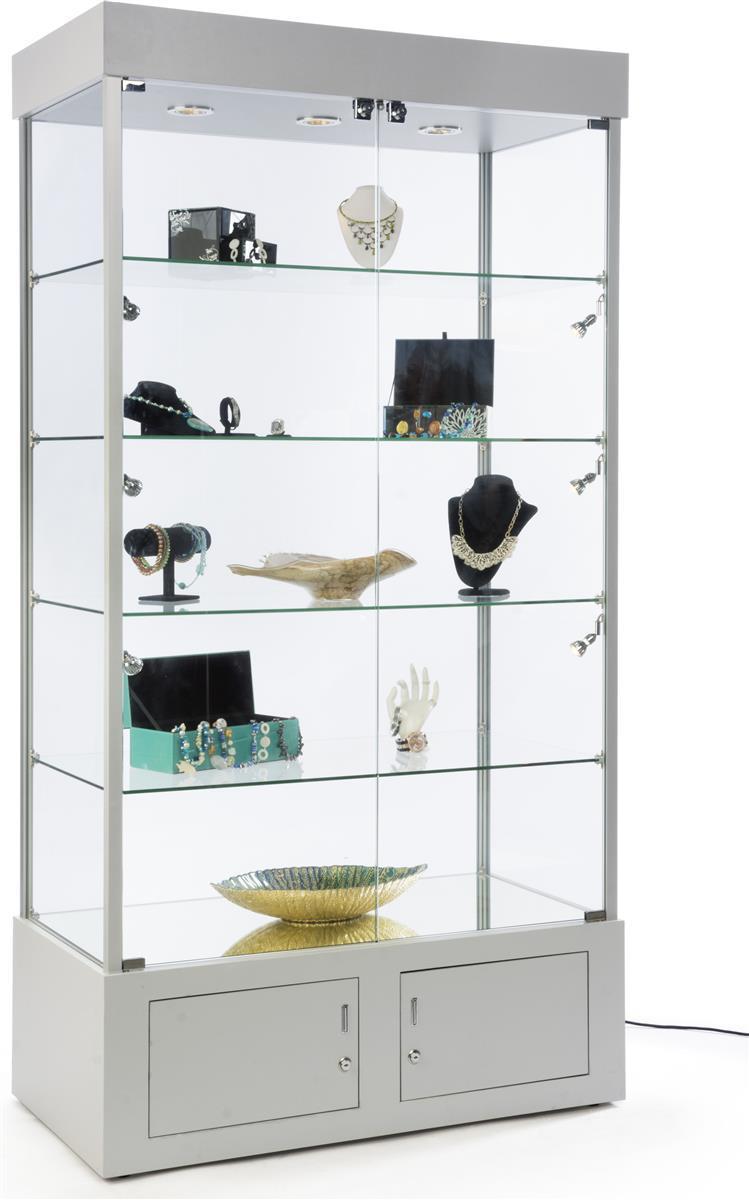 Fine 41 Display Case W 9 Led Lights Mirror Bottom Enclosed Cabinet Locking Silver Download Free Architecture Designs Embacsunscenecom